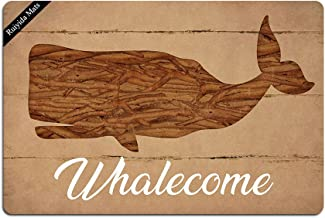 Ruiyida Whalecome Entrance Floor Mat Funny Doormat Door Mat Decorative Indoor Outdoor Doormat Non-Woven 23.6 by 15.7 Inch ...