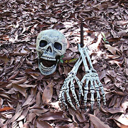 Heiliger Skelett-Schädel-Arm-Horror Begraben In Der Hausgarten-Yard-Rasen-Dekoration Halloween Und Knochen-Friedhofs-Zombie-Props Luminous Window Horror Angebracht Eine Dekorative