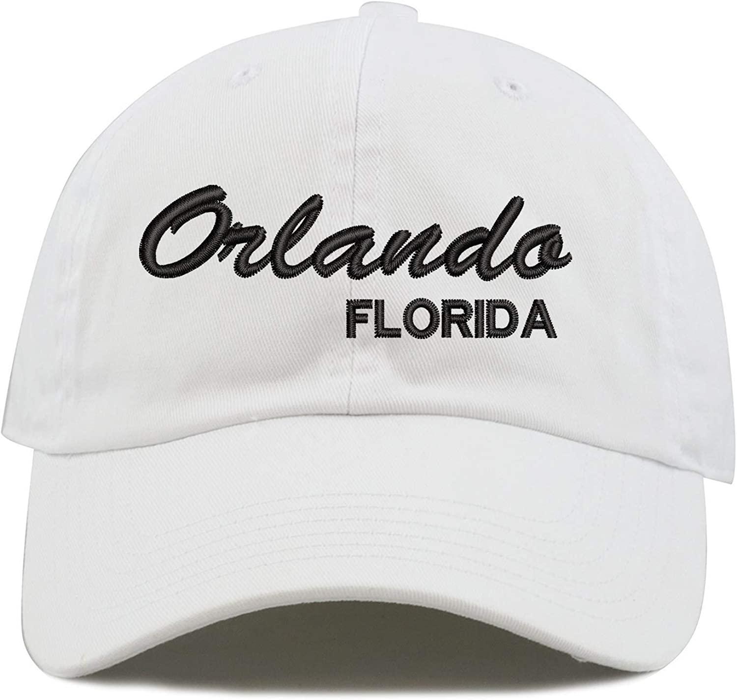 Top Level Apparel Orlando Florida Script Embroidered Low Profile Soft Crown Unisex Baseball Dad Hat
