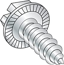 Steel Sheet Metal Screw Hex Washer Head 4-1//2 Length Type AB Hex Drive 1//4-14 Thread Size Zinc Plated Pack of 300