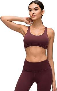 Women's Yoga Bras, Sexy Unique Cross Back Breathable Sports Bra for Gym Yoga,Purple,4