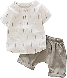 Kids Baby Boys Cotton Long Sleeve Tops+Pants Sets Outfits