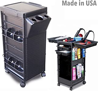 N20-H HF Salon Roll-About Utility Trolley Cart Non Lockable w/Tool Holder Made in USA by Dina Meri