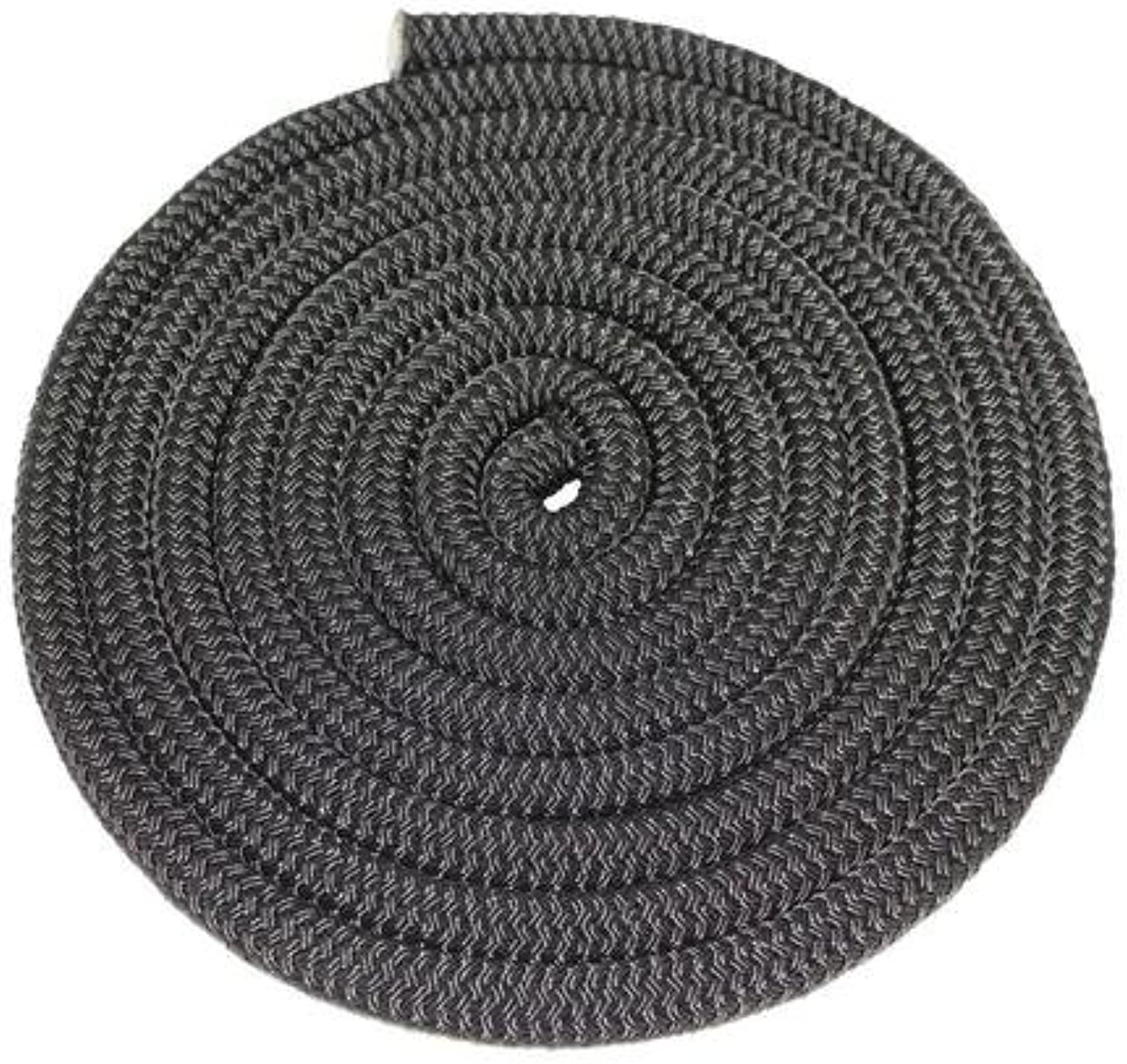 SGT Knots Double Braid Nylon Rope (1 2 inch) Twin Braid  AllPurpose Nylon Cord  for Mooring Towing Anchor Lines Gardening DIY Projects Crafting Construction More (50 Feet  Black)
