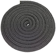 SGT KNOTS Double Braid Nylon Rope (3/8 inch - 5/8 inch) Twin Braid - All-Purpose Nylon Cord - for Mooring, Towing, Anchor Lines, Gardening, DIY Projects, Crafting, More (50 ft - 300 ft, Black)