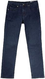 BUFFALO 5 Pocket David Bitton Men's Jackson-X Straight Fit Stretch Denim Jeans Dark Blue 32W x 32L