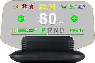 Romacci Display de HUD para carro, display de cabeça para cima OBD GPS de alta definição para pára-brisa Projetor Computad...