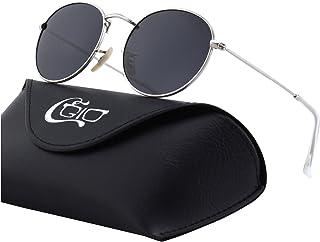 4e4e9e7389 CGID E01 lunettes de soleil polarisées inspirées du style retro vintage  Lennon en cercle métallique rond