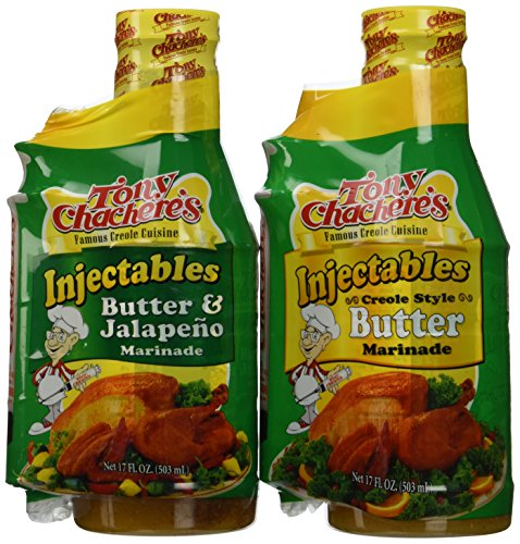 Tony Chachere Injectable Marinade Variety Pack, Butter and Jalapeno, 17 Fl. Oz, 3 Count