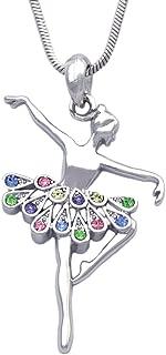 cocojewelry Ballerina Ballet Dancer Passe Relever Pose Pendant Necklace Gift Box