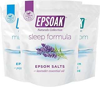 Ultimate Epsoak Epsom Salt Bath Soak Bundle (6 lbs. Total) – Sleep Formula Bath Salt, Muscle Soak Bath Salt, Original Unsc...