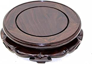 GOLDY&WENDY Rosewood Pedestal Stand with Non-Slip mat.(6.1