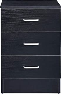 GreenForest Vertical File Cabinet 3 Drawers Wood for Home Office File Storage Under Desk Letter Size/A4 Black