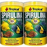 Tropical 2 Stück 1 Liter Spirulina Forte 36% Doppelpack 2 er Set Cichlid Malawi Fischfutter
