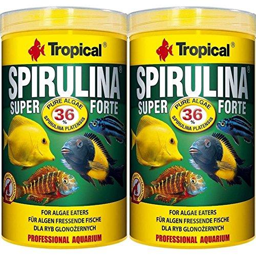 Tropical 2 Stück 1 Liter Spirulina Forte 36{1ef4d4ffce4b0f5aaf14300f882dab54717c7a99f73e5dde9a6bd0c8eb2eb9af} Doppelpack 2 er Set Cichlid Malawi Fischfutter