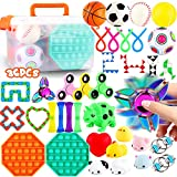 FiGoal 36 PCS Stress Relief Set Sensory Fidget Toys Set, Hand Toys for Adults Kids ADHD ADD Anxiety Autism, Birthday Party Favors,Classroom, Goodie Bag Fillers, Halloween Party Supplies