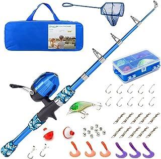 Lanaak Kids Fishing Pole - Rod and Reel Starter Kit -...