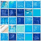 HomeyMosaic - Adhesivos decorativos para azulejos, para cocina, baño, 30 x 30 cm, color azul marino