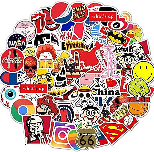 Afufu Aufkleber Coole Sticker Pack 100-pcs Vsco Stickers Decals, Vinyl Aufkleber, Sticker Erwachsene für Laptop, Wasserflasche, Gepäck, Skateboard, Xbox One, Stickerbomb Vintage Sticker