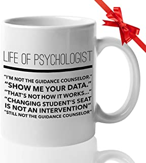 Counselor Coffee Mug - Funny Gifts for Guidance Counselors Mental Therapist - Freud Freudian Psychology Mugs - School Psychologist Psychiatrist Cup - Life of a Psychologist