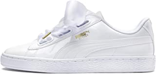 PUMA Basket Heart Patent Womens Sneakers White