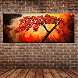wZUN Pintura al óleo Pintura de Paisaje manglar Lienzo Abstracto Arte Pintura de Pared decoración de Imagen 60x120 Sin Marco