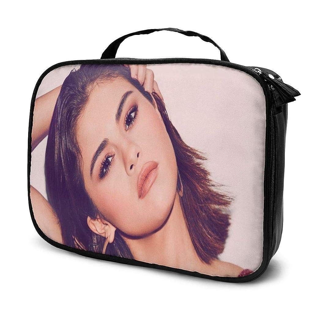 いらいらする効能ある急速な化粧ポーチ アイドルミュージックSelena Gomez 女性化粧品バッグ ビューティー メイク道具 フェイスケアツール 化粧ポーチメイクボックス ホーム、旅行、ショッピング、ショッピング