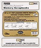 "Pioneer Photo Albums Rw85 8.5"" X 11"" White Top Loading Scrapbook Refill Pages"