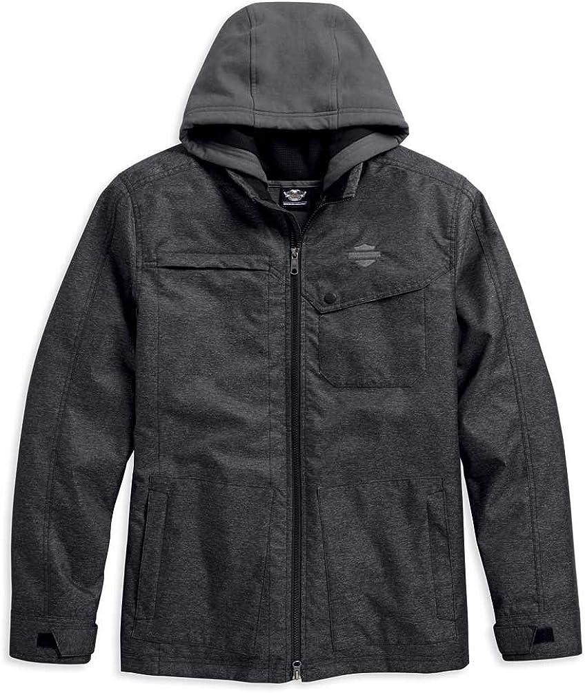 Harley-Davidson Men's Crestwood 3-IN-1 Casual Jacket, Black 97448-18VM