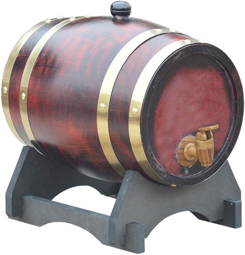 Barril de vino de madera Barriles de whisky de roble, Barriles De Roble Con Almohadilla de aluminio incorporada para elaborar cerveza o almacenar cerveza, Vino Bourbon, Brandy, Vino blanco (con grifo)