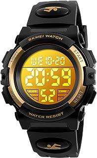Kid Watch Sport LED Alarm Stopwatch Digital Child Quartz Wristwatch for Boy Girl Green
