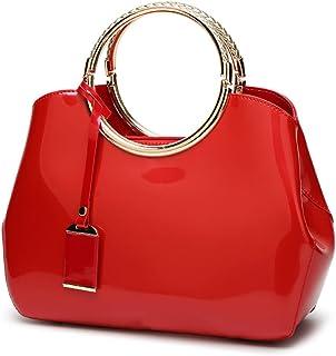 Bolso de mano para vestir grande pequeño casual comodo barato oferta Todo de Rojo