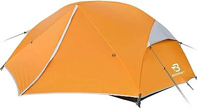 Bessport ultralichte tenten 3-4 personen, winddicht en waterdicht PU 3000 MM+, 3-4 seizoenen, koepeltent direct neerzetten...