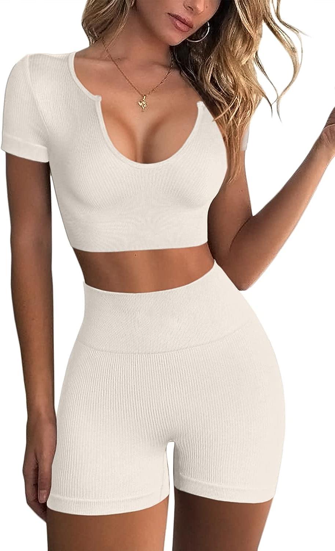 FAFOFA Women's Seamless 2 Free Shipping New Piece High Outfits Max 42% OFF Runni Waist Workout