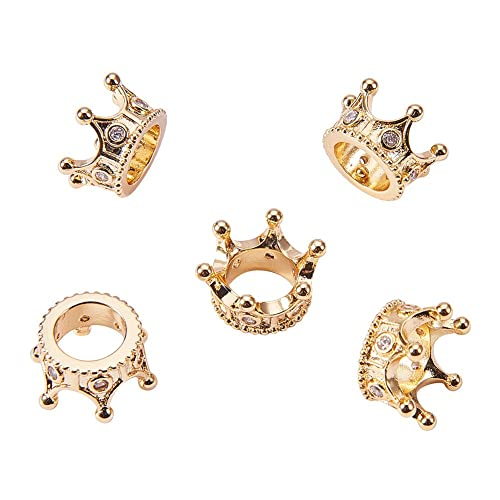 Jewelry & Accessories Lovely Cz King Crown Lion Head Spacer Beads Micro Pave Cubic Zirconia Charm Beads Large Hole Beads Mens Jewelry Making Findings Beads & Jewelry Making