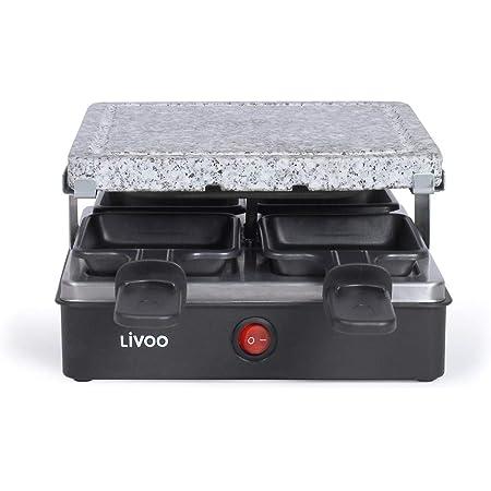 Livoo - Appareil à raclette 4 personnes DOC242 Noir