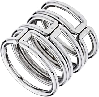 Calvin Klein Womens Polished Stainless Steel Jewelry Modern Ring Collection