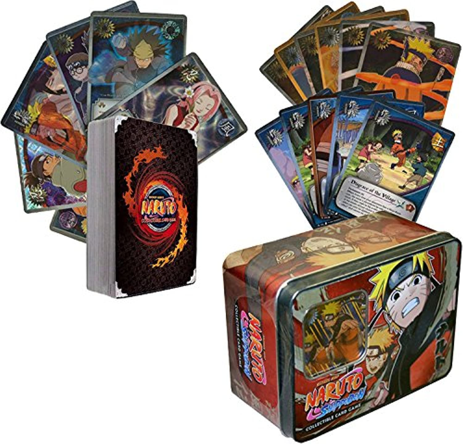 100 Assorted Naruto Collectible Cards With Rares and Foils. Includes Random Naruto Sealed Tin  By golden Groundhog