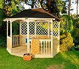 Jardín Verde - Quiosco Octagonal 'Winchester' de Madera con Balaustrada. Lados Enrejados. Con...