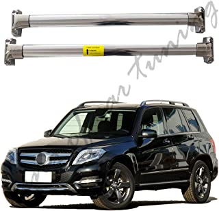 king of car tuning Stainless Steel Crossbar Cross Bar Roof Rail Luggage Rack Fits for Mercedes Benz GLK GLK300 GLK350 2008-2015