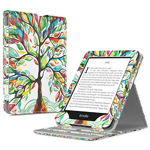 TiMOVO Kindle Paperwhite Funda (2018 Release), Prima Voltear Verticalmente Cubierta con Cierre Magnético y Activación/Suspensión Automática para Kindle Paperwhite E-Reader - Árbol de Suerte