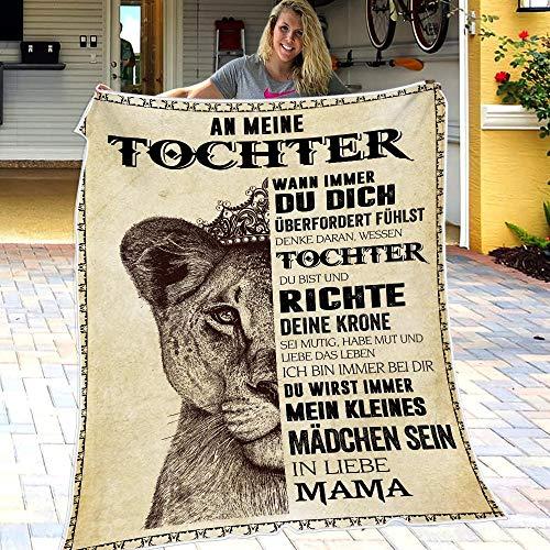 Personalisierte Flanell-Briefdecke An Meine Tochter, Mutter Für Töchter Luftpost Positiv Ermutigen Decke Decke Quiltdecke Werfen (150 * 200CM)