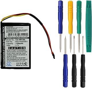 Cameron Sino 1100mAh Battery for Tomtom 4EM0.001.01, N14644, V3, XL IQ with 7/pcs Toolskits