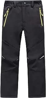 Kids Boys Girls Waterproof Outdoor Hiking Pants Warm Fleece Lined