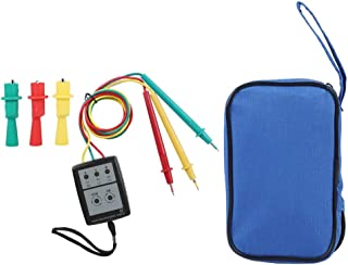 BiuZi Phase Indicator SP8030 Portable Digital 3 Phase Rotation Tester LED and Buzzer Tester Phase Indicator Sequence Meter 200 V-480V AC