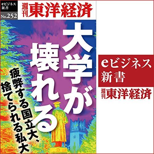 『大学が壊れる(週刊東洋経済eビジネス新書No.252)』のカバーアート