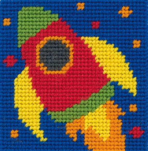 Anchor Stickbild-Set Ronnie, für Anfänger, ausgewählte Stoffe und Farben