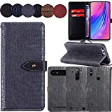 QHTTN Muster Premium Grau Leder Tasche Hülle Für Elephone S1 5