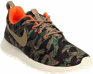 NIKE Rosherun Print Men Sneakers Medium Olive/Sea Weed/Gorge Green/Bamboo 655206-203 (Size: 13)