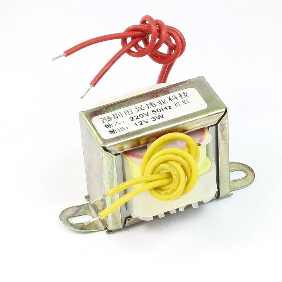 マラドロイトスーツ言語uxcell 変換器 変圧器 トランスフォーマー 220V 50Hz入力 12V 3W出力 EIコア 単相電源トランス